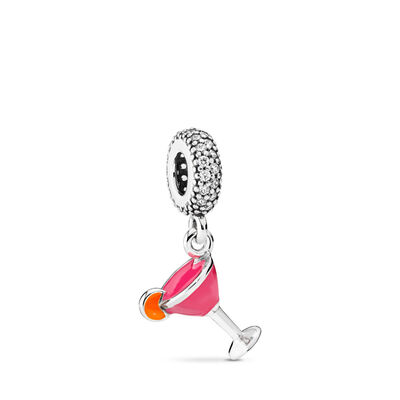 Fruity Cocktail, Sterlingsilver, Emalj, Orange, Kubisk zirkonia - PANDORA - #792153ENMX