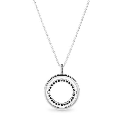 Spinning Hearts of PANDORA Necklace