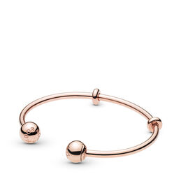 Moments PANDORA Rose Open Bangle,, PANDORA Rose, Silikon, Ingen färg, Utan ädelsten - PANDORA - #586477
