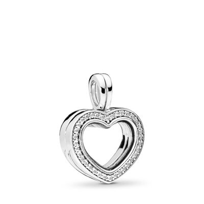 Sparkling PANDORA Floating Heart Locket
