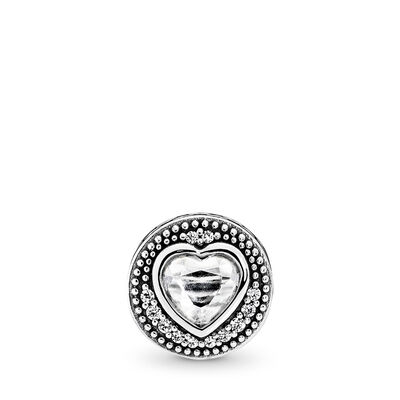 PASSION ESSENCE COLLECTION charm, Sterlingsilver, Silikon, Ingen färg, Kubisk zirkonia - PANDORA - #796081CZ