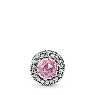 APPRECIATION ESSENCE COLLECTION charm, Sterlingsilver, Silikon, Rosa, Kubisk zirkonia - PANDORA - #796082PCZ