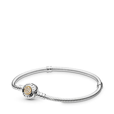 Moments Silver & Gold Bracelet, PANDORA Signature