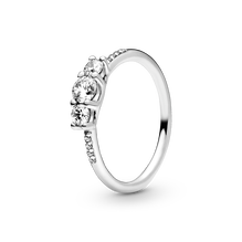 Clear Three-Stone Ring