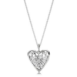 Heart of Winter Necklace, Sterlingsilver, Inget annat material, Ingen färg, Kubisk zirkonia - PANDORA - #396369CZ