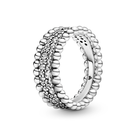 Pärlad Pavé Band Ring