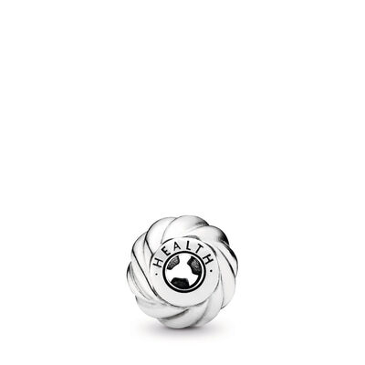 HEALTH ESSENCE COLLECTION charm, Sterlingsilver, Silikon, Ingen färg, Utan ädelsten - PANDORA - #796015