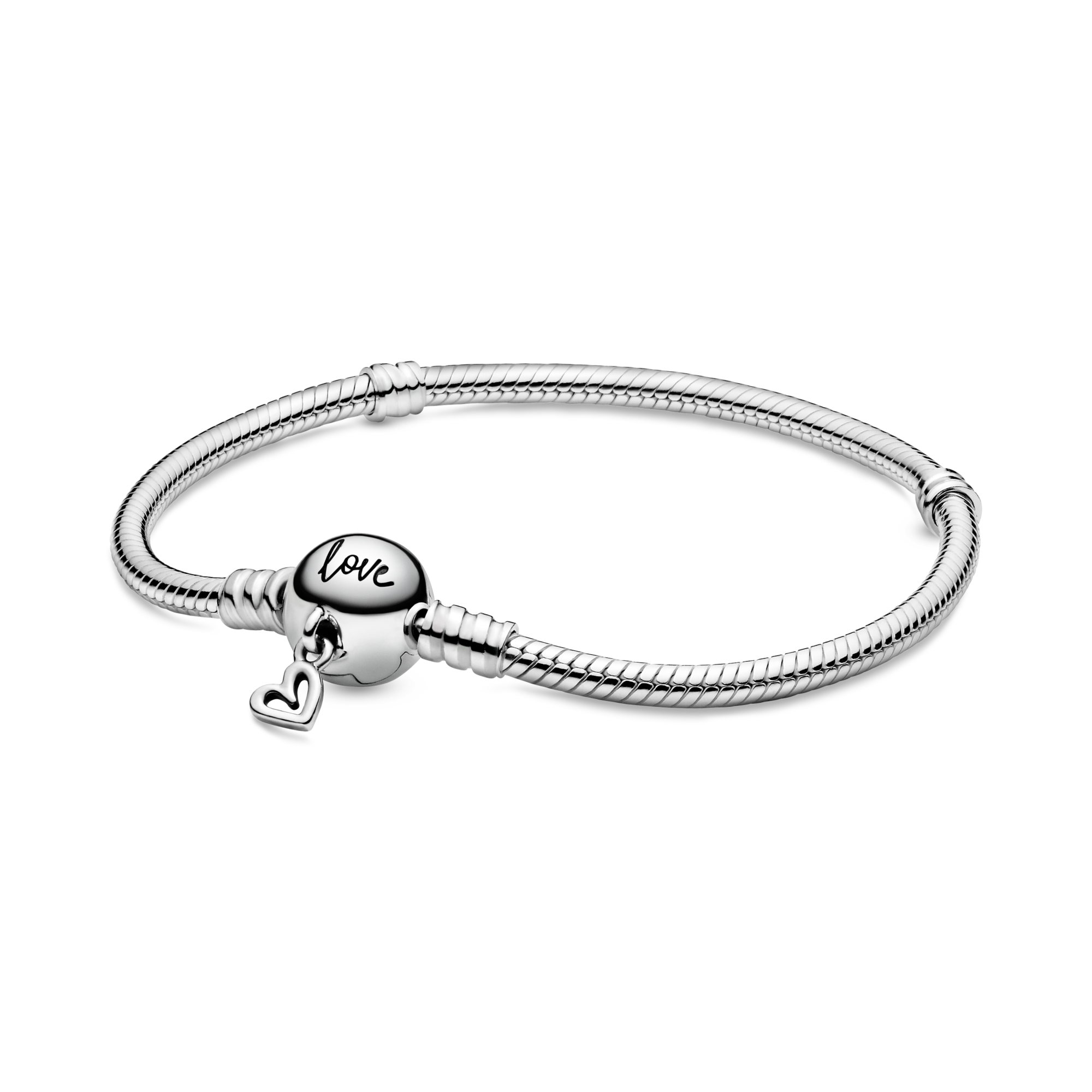 Pandora Moments Freehand Heart Clasp Ormkedjearmband