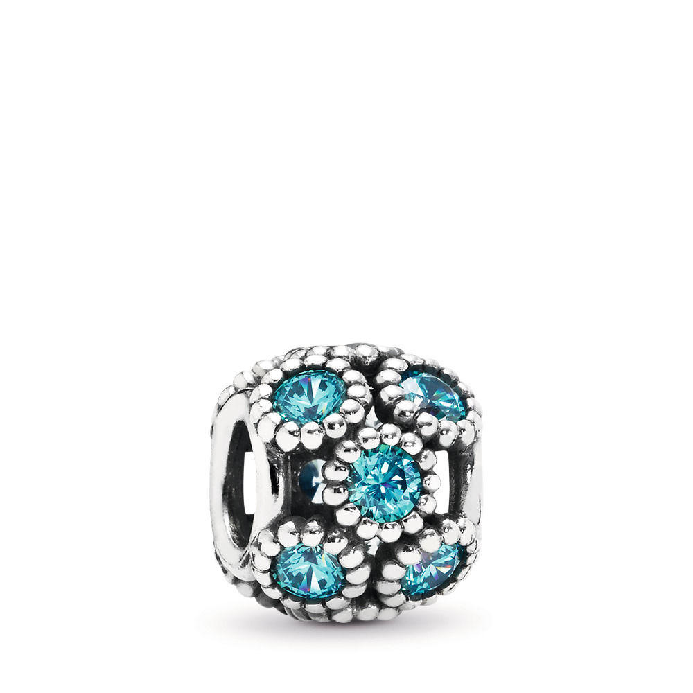 Teal Studded Circles Openwork